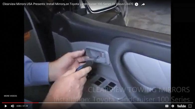 Pry off the panel cover behind door handle