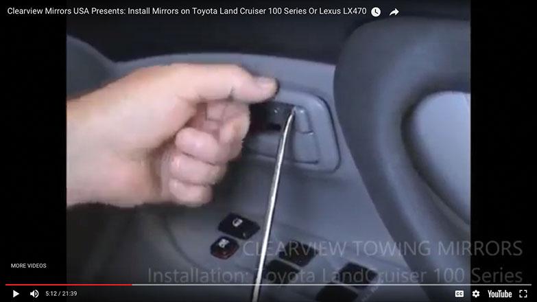 Pry off the trim around the door handle