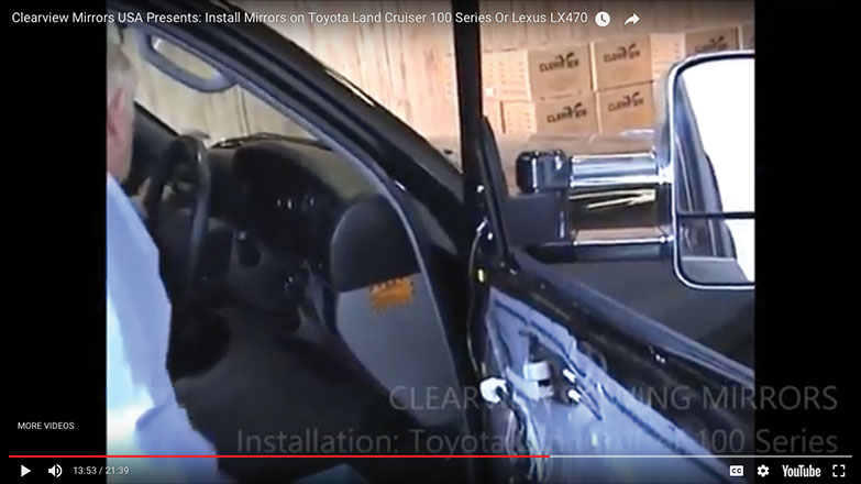 Turn on the ignition and test the functions of the mirror