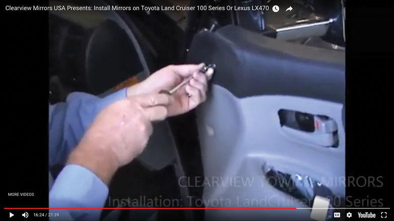 Re-attach the screws to the left side of the door panel
