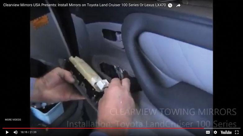 Plug in the door panel electrical controls