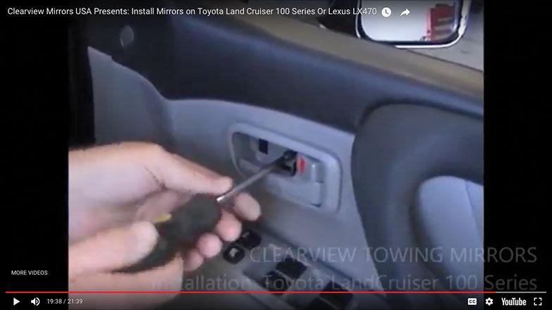 Re-screw the screw behind the door handle trim